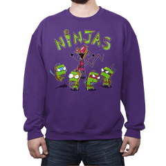 Invader Turtles - Crew Neck Sweatshirt - Crew Neck Sweatshirt - RIPT Apparel