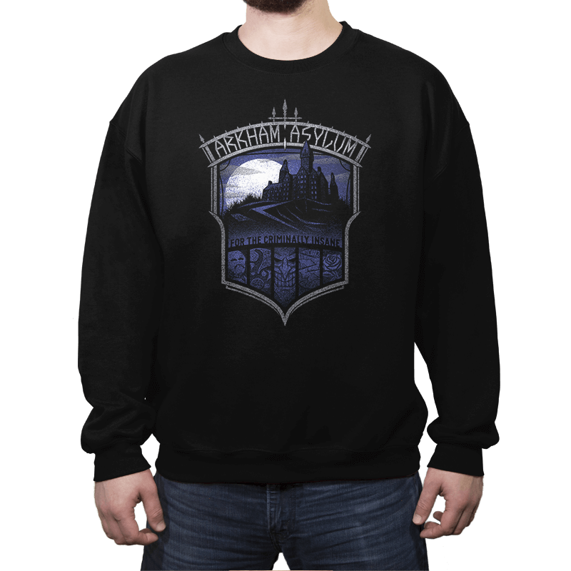 Criminally Insane Asylum - Crestfest - Crew Neck Sweatshirt - Crew Neck Sweatshirt - RIPT Apparel