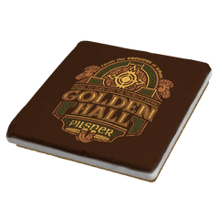 Golden Hall Pilsner - Crestfest - Coasters - Coasters - RIPT Apparel