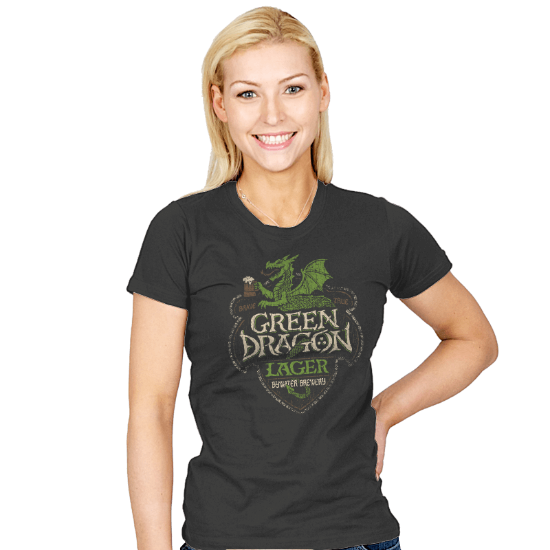 Green Dragon Lager - Crestfest - Womens - T-Shirts - RIPT Apparel