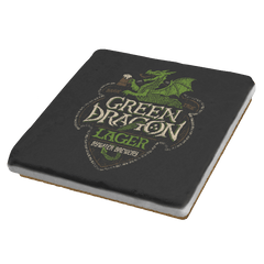 Green Dragon Lager - Crestfest - Coasters - Coasters - RIPT Apparel