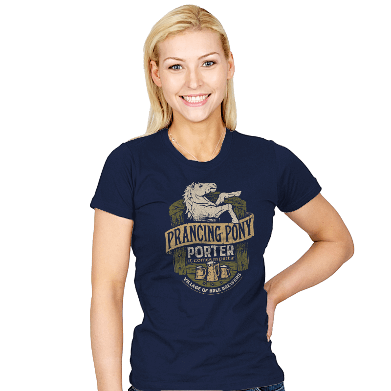 Prancing Pony Porter -Crestfest - Womens - T-Shirts - RIPT Apparel