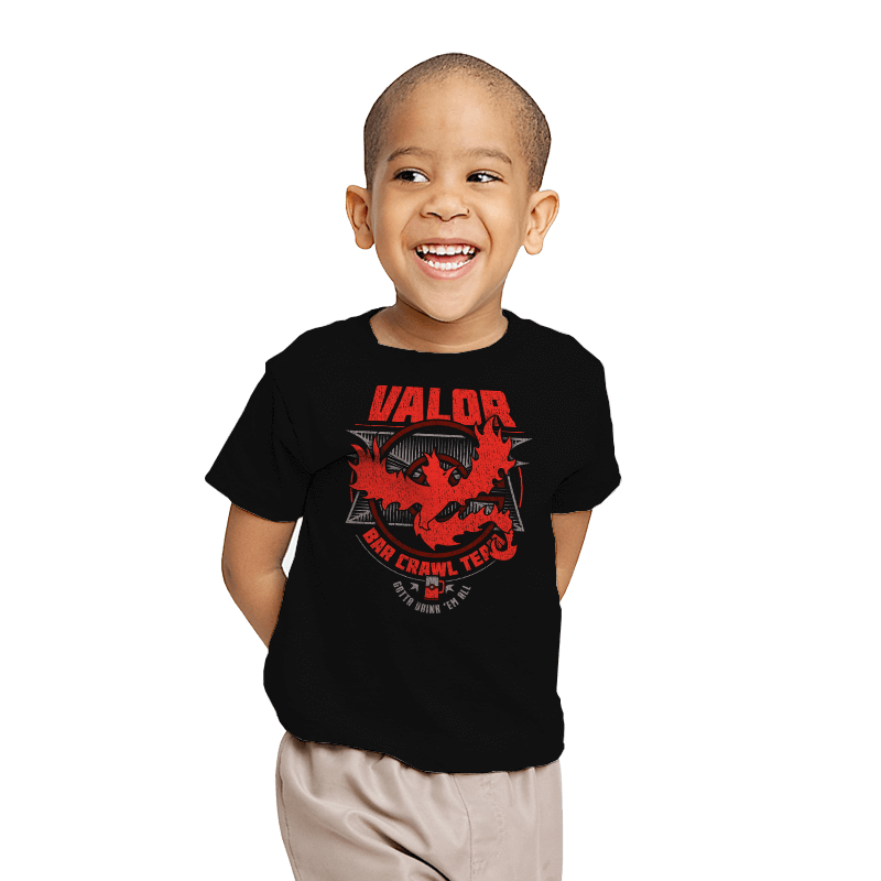 Valor Bar Crawl - Crestfest - Youth - T-Shirts - RIPT Apparel