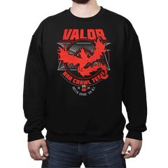 Valor Bar Crawl - Crestfest - Crew Neck - Crew Neck Sweatshirt - RIPT Apparel
