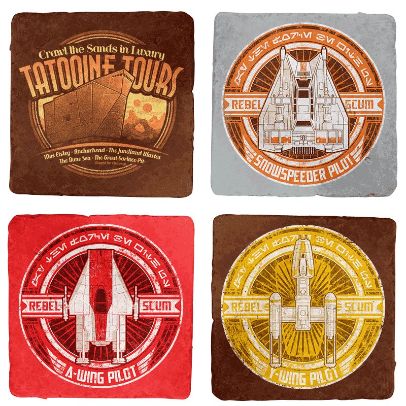 Rebel Scum 4-Coaster Set - Crestfest - Coasters - Coasters - RIPT Apparel