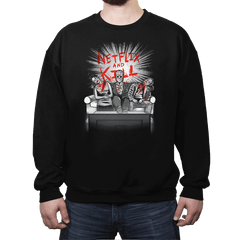 'Flix and Kill - Crew Neck Sweatshirt - Crew Neck Sweatshirt - RIPT Apparel