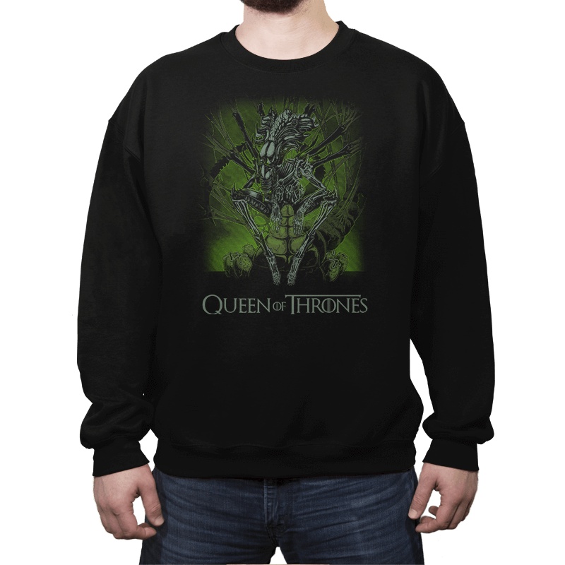 Queen of Thrones - Crew Neck Sweatshirt - Crew Neck Sweatshirt - RIPT Apparel
