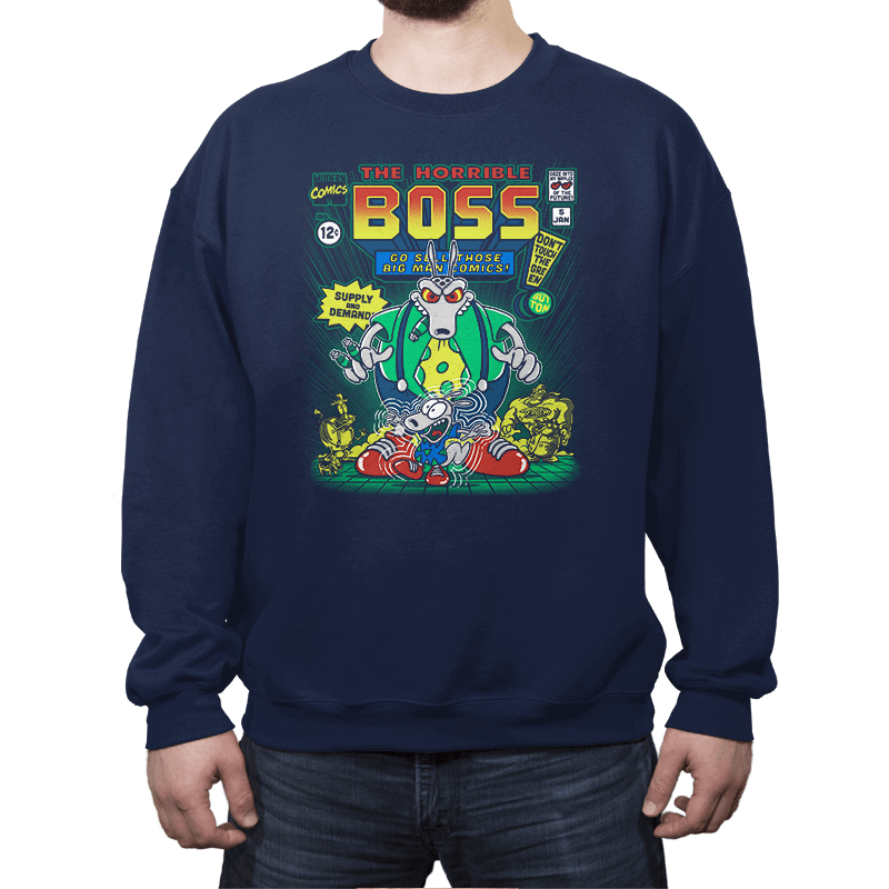 The Horrible Boss - Crew Neck Sweatshirt - Crew Neck Sweatshirt - RIPT Apparel