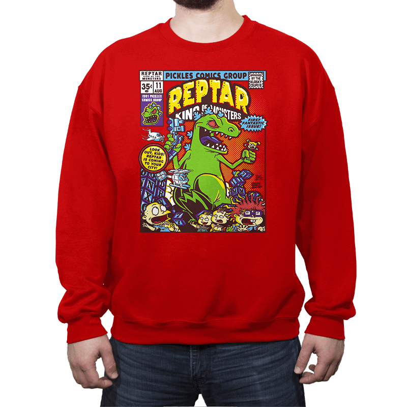 King of the Monsters - Crew Neck Sweatshirt - Crew Neck Sweatshirt - RIPT Apparel