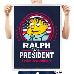 Ralph For Prez - Prints - Posters - RIPT Apparel