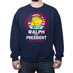 Ralph For Prez - Crew Neck Sweatshirt - Crew Neck Sweatshirt - RIPT Apparel