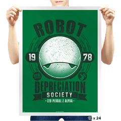 Robot Depreciation Society - Prints - Posters - RIPT Apparel