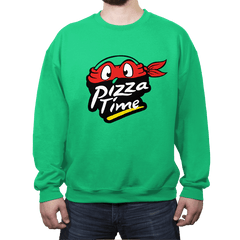 Pizza Time - Crew Neck Sweatshirt - Crew Neck Sweatshirt - RIPT Apparel
