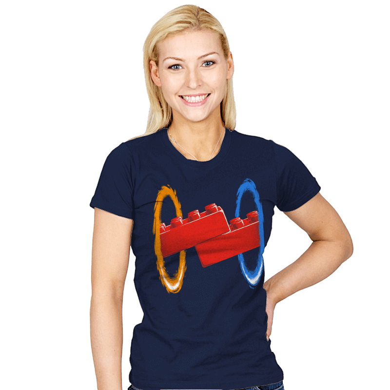 Now You're Building With Portals! - Womens - T-Shirts - RIPT Apparel