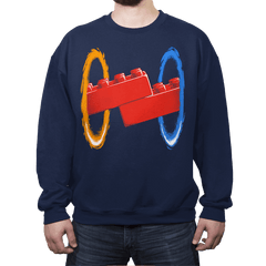 Now You're Building With Portals! - Crew Neck Sweatshirt - Crew Neck Sweatshirt - RIPT Apparel