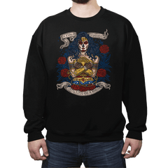 Day of the Dead Wonder - Crew Neck Sweatshirt - Crew Neck Sweatshirt - RIPT Apparel