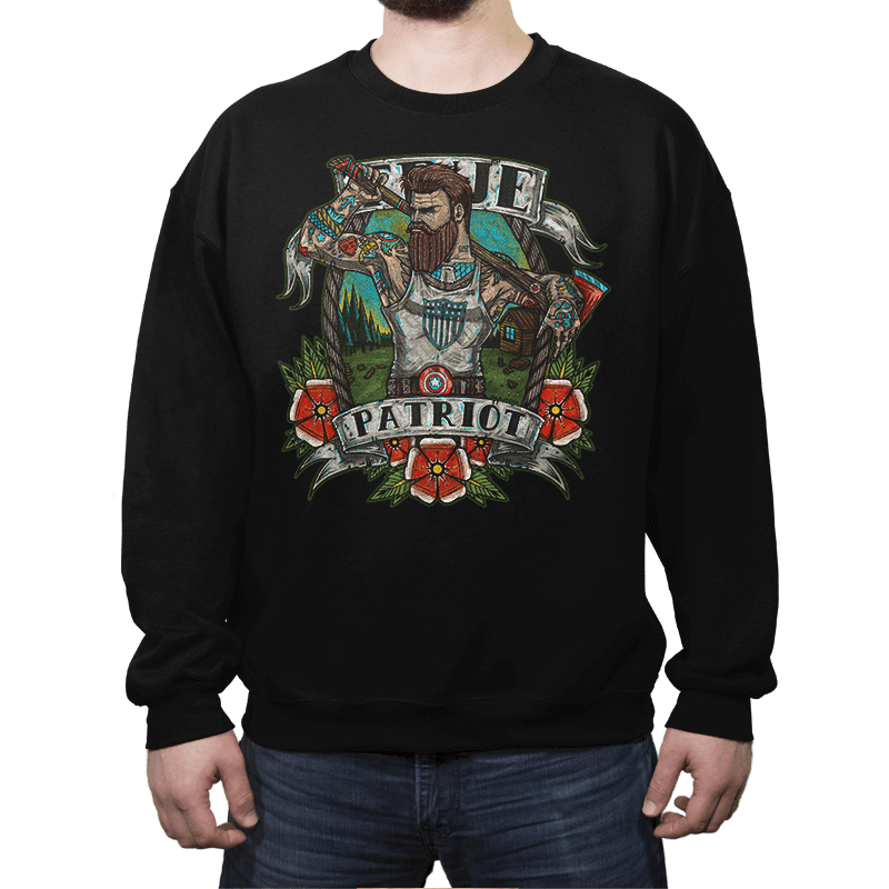 True Patriot - Crew Neck Sweatshirt - Crew Neck Sweatshirt - RIPT Apparel