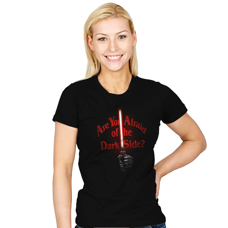 Afraid of the Dark Side - Womens - T-Shirts - RIPT Apparel