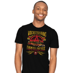 Winchester Farms Haunted Hay Ride - Mens - T-Shirts - RIPT Apparel