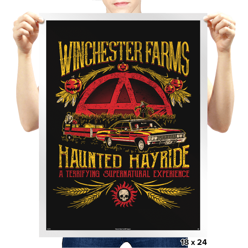 Winchester Farms Haunted Hay Ride - Prints - Posters - RIPT Apparel