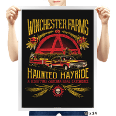 Winchester Farms Haunted Hay Ride Exclusive - Prints - Posters - RIPT Apparel