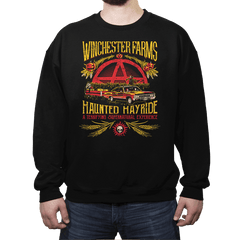 Winchester Farms Haunted Hay Ride - Crew Neck Sweatshirt - Crew Neck Sweatshirt - RIPT Apparel