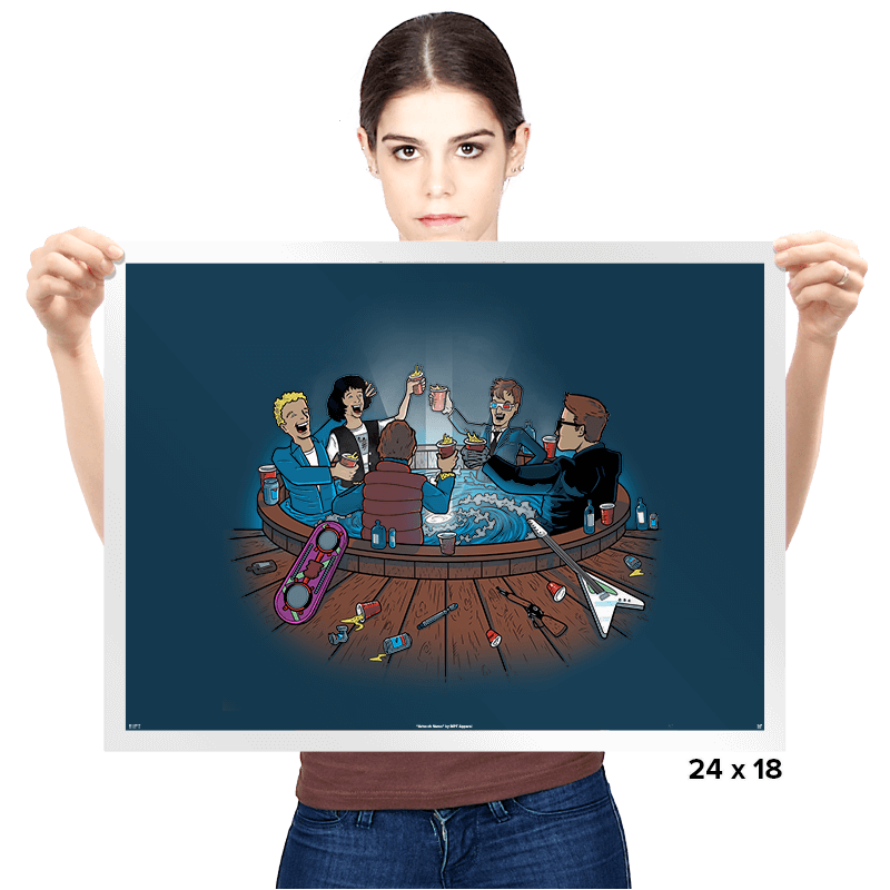 Hot Tub Time Travelers Exclusive - Prints - Posters - RIPT Apparel