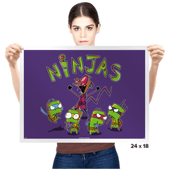 Invader Turtles Exclusive - Prints - Posters - RIPT Apparel