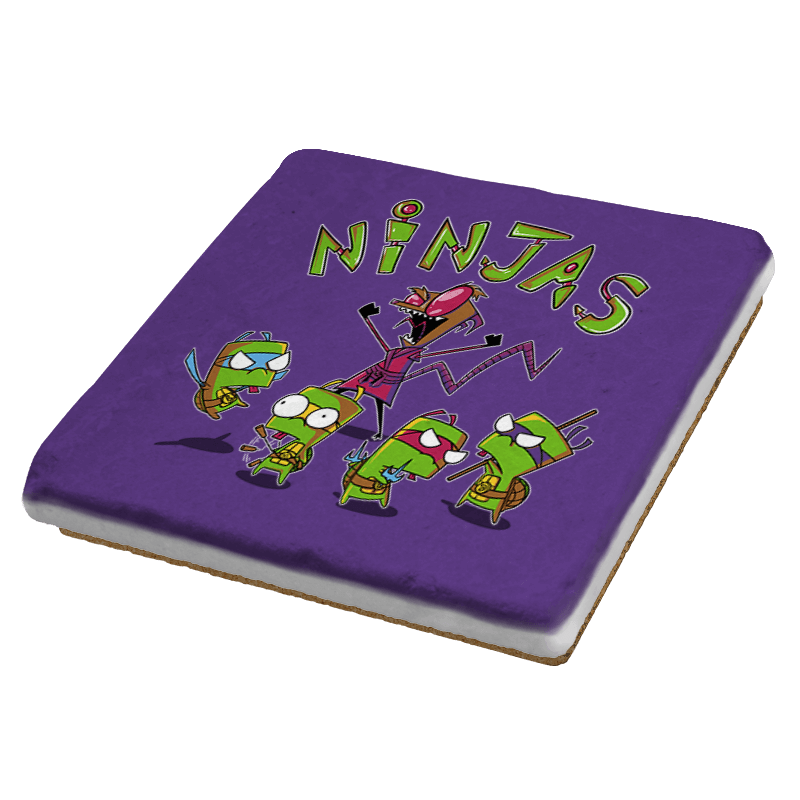 Invader Turtles Exclusive - Coasters - Coasters - RIPT Apparel