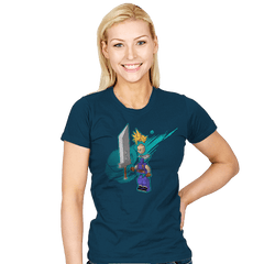 The Blocky Hero of Midgar Exclusive - Womens - T-Shirts - RIPT Apparel