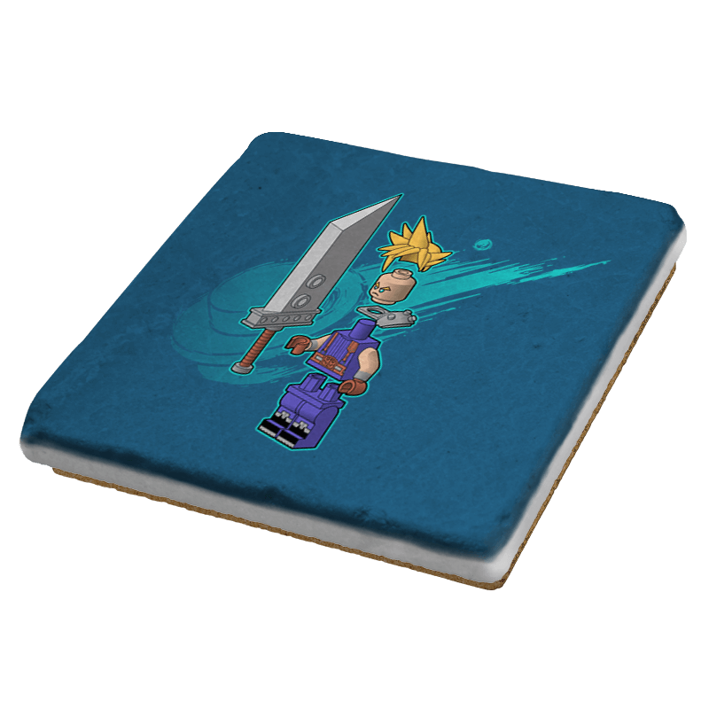 The Blocky Hero of Midgar Exclusive - Coasters - Coasters - RIPT Apparel