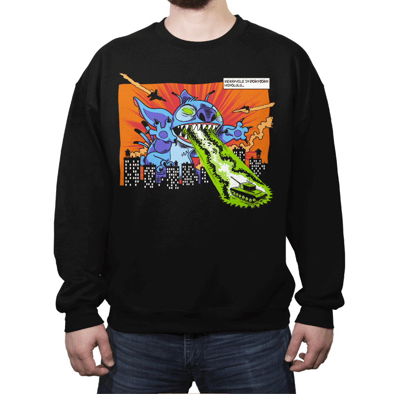 Kaiju-626 - Crew Neck Sweatshirt - Crew Neck Sweatshirt - RIPT Apparel