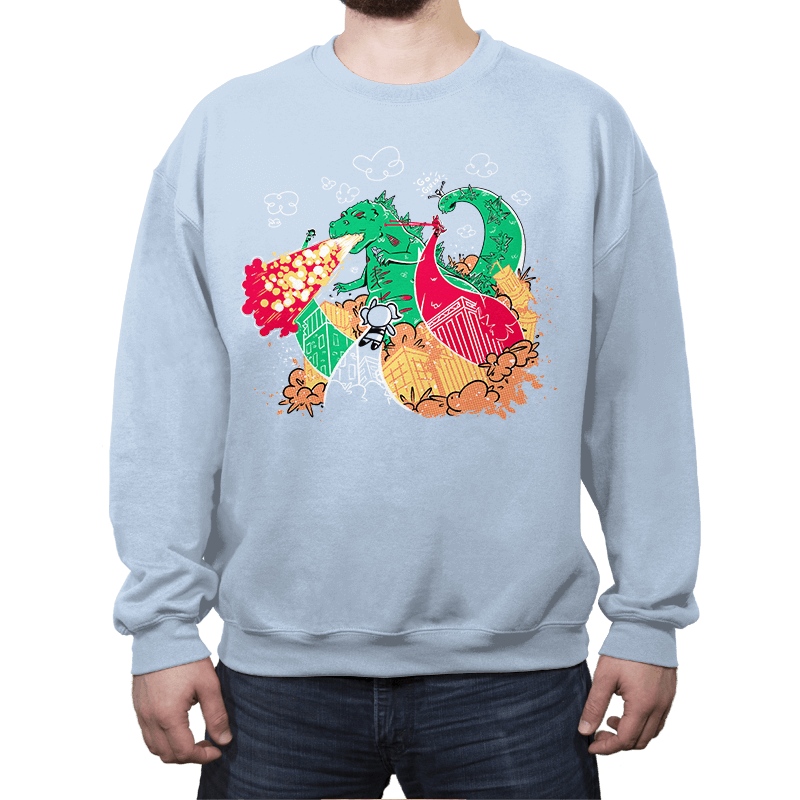 A Kaiju In Townsville - Crew Neck Sweatshirt - Crew Neck Sweatshirt - RIPT Apparel