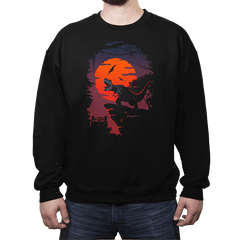 Dino Park Sunset - Crew Neck Sweatshirt - Crew Neck Sweatshirt - RIPT Apparel