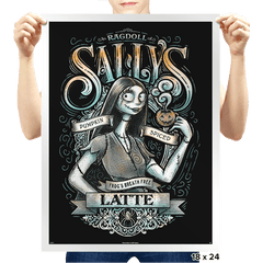 Sally's Pumpkin Spiced Latte - Prints - Posters - RIPT Apparel