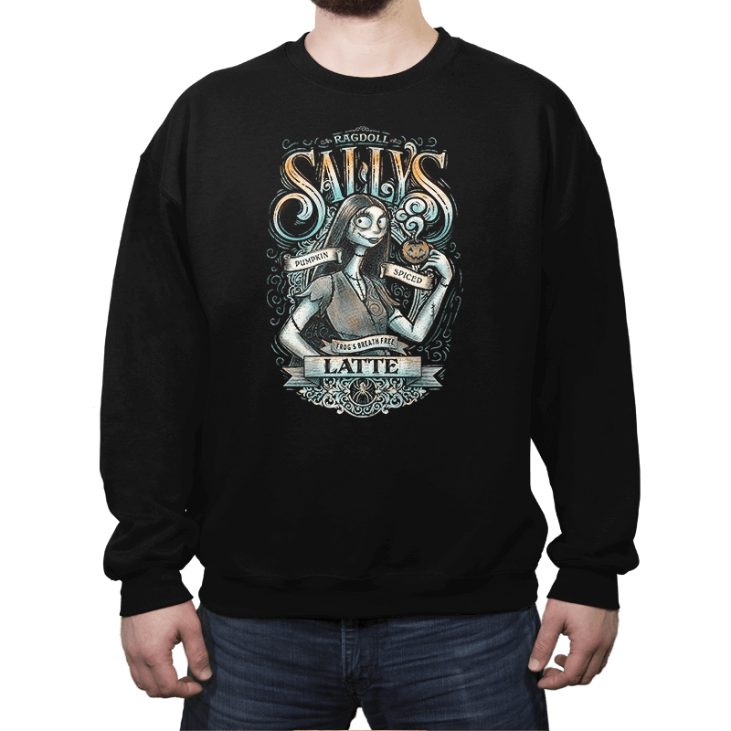 Sally's Pumpkin Spiced Latte - Crew Neck Sweatshirt - Crew Neck Sweatshirt - RIPT Apparel