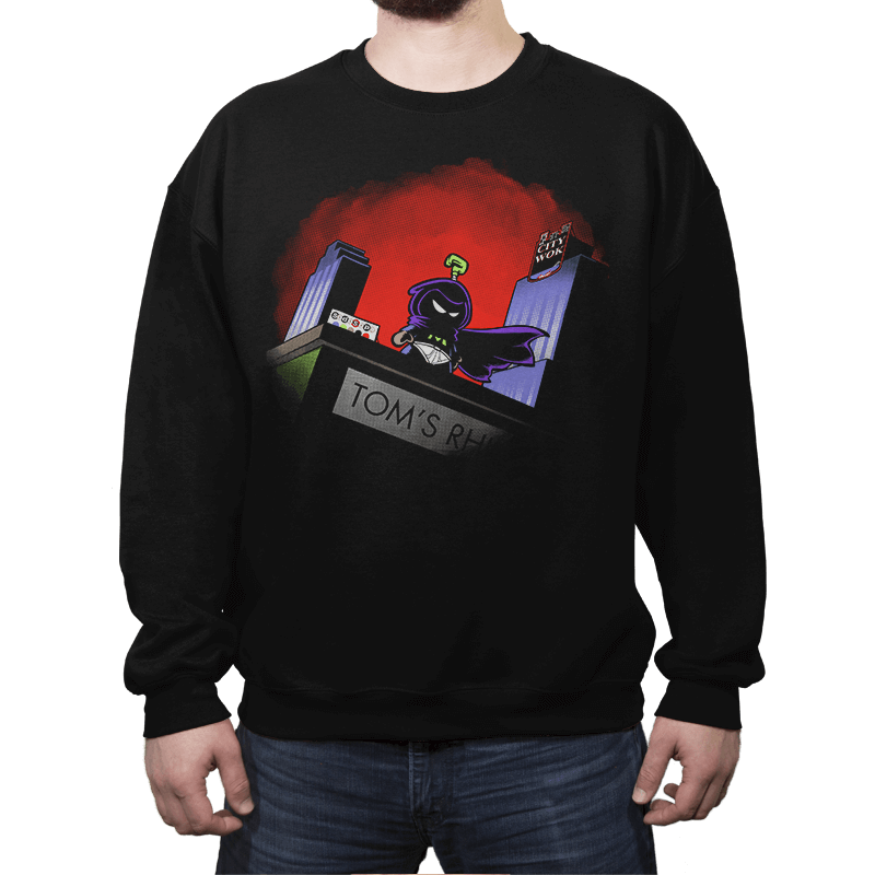 Mysterion: The Poorly Animated Series - Crew Neck Sweatshirt - Crew Neck Sweatshirt - RIPT Apparel