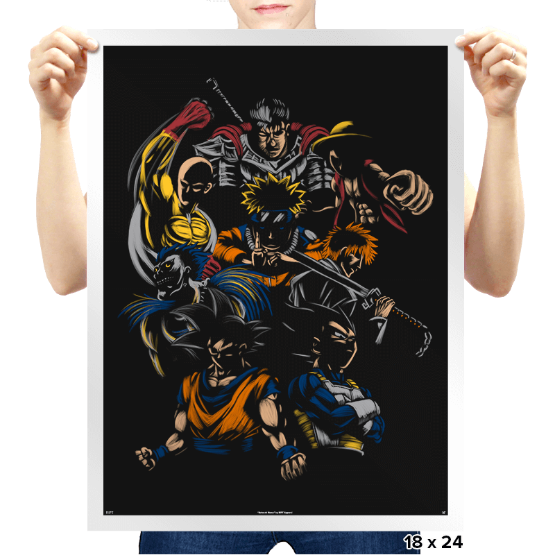 Invincible Anime Team - Prints - Posters - RIPT Apparel