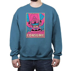 CONSUME - Crew Neck Sweatshirt - Crew Neck Sweatshirt - RIPT Apparel