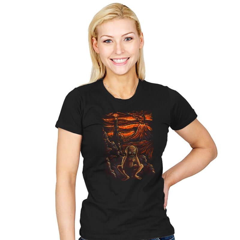 The Scream in Mordor - Womens - T-Shirts - RIPT Apparel