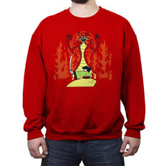 Samurai Princess - Crew Neck Sweatshirt - Crew Neck Sweatshirt - RIPT Apparel