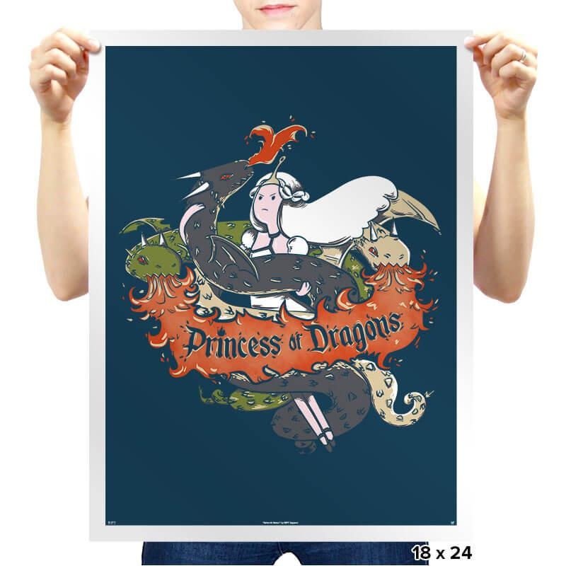 Princess of Dragons - Prints - Posters - RIPT Apparel