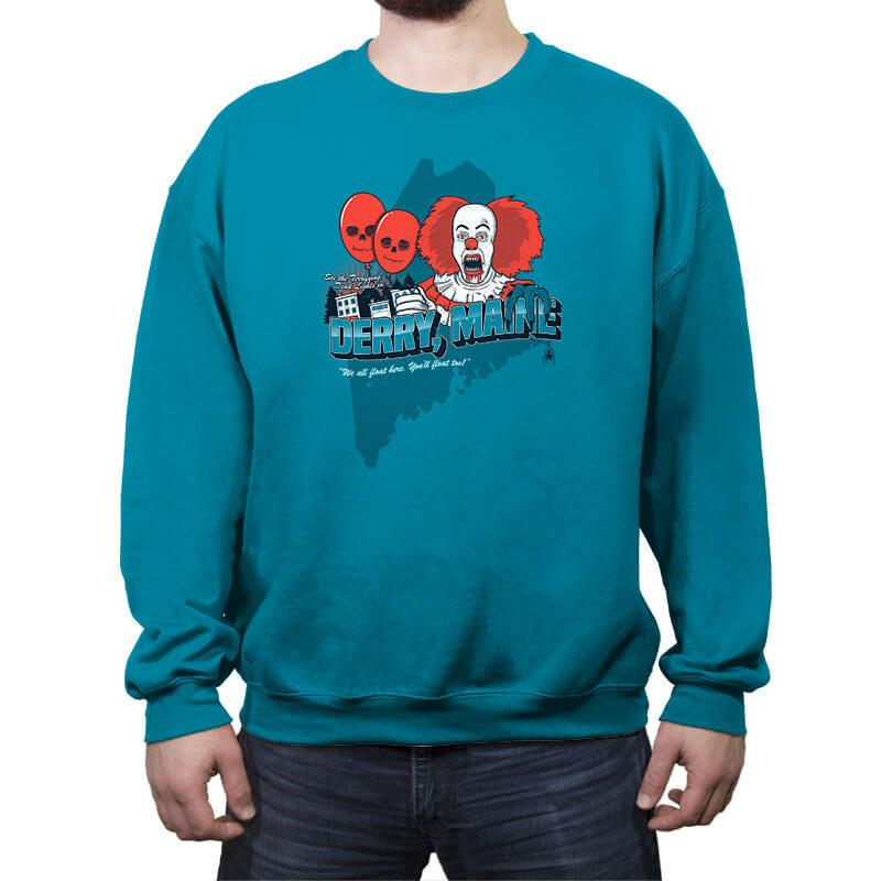 Visit Derry Maine - Crew Neck Sweatshirt - Crew Neck Sweatshirt - RIPT Apparel