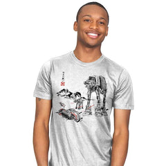 Battle in the Snow sumi-e - Mens - T-Shirts - RIPT Apparel