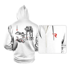 Battle in the Snow sumi-e - Hoodies - Hoodies - RIPT Apparel