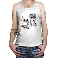 Battle in the Snow sumi-e - Tanktop - Tanktop - RIPT Apparel