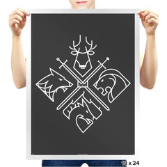 Minimal Thrones - Prints - Posters - RIPT Apparel