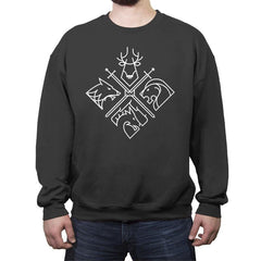 Minimal Thrones - Crew Neck Sweatshirt - Crew Neck Sweatshirt - RIPT Apparel