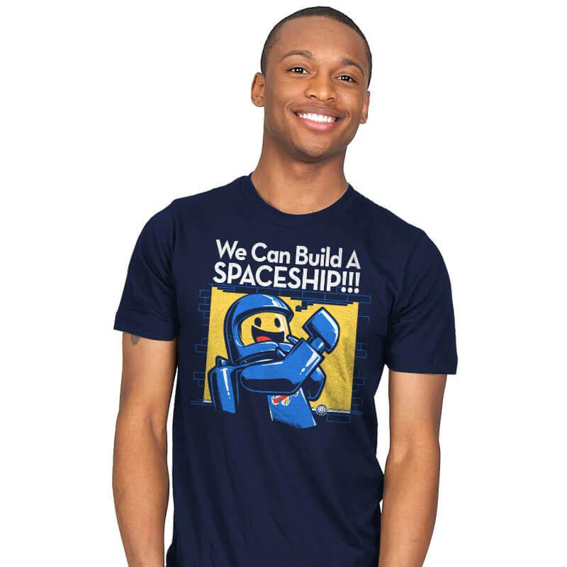 We Can Build A SPACESHIP!!! - Mens - T-Shirts - RIPT Apparel