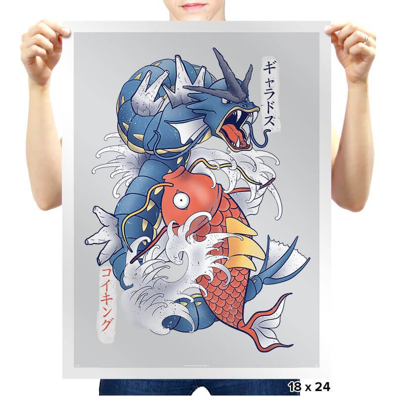 Koi Fish Evolution - Prints - Posters - RIPT Apparel